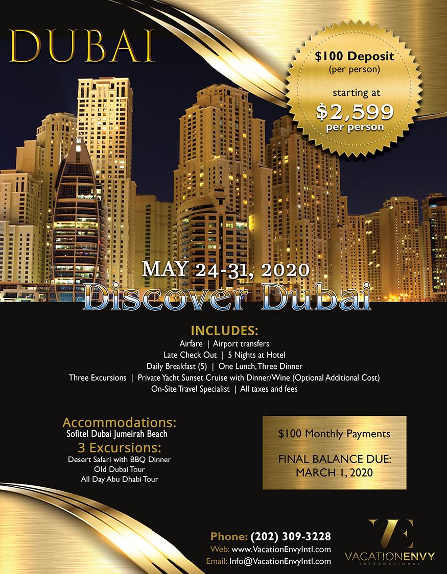 Dubai (Discover Dubai) May 24-31, 2020